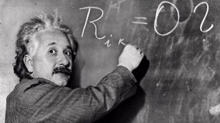 Albert Einstein explaining his theory