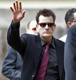 Charlie Sheen's right hand